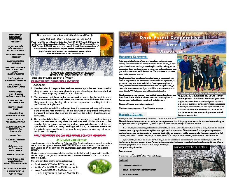 2019 WINTER NEWSLETTER PDF